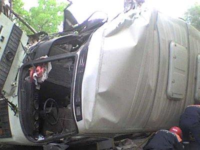 По дороге из Смоленска в Гусино перевернулся пассажирский автобус