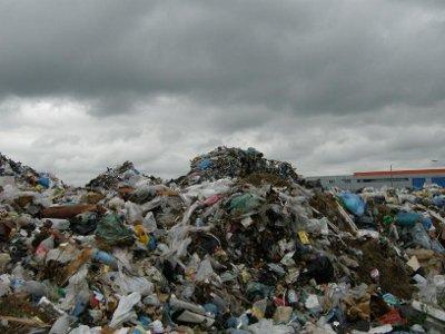 В центре Красного выросла огромная мусорная куча