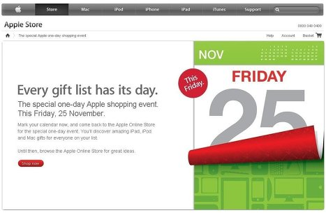 Apple анонсировала скидки в онлайн-магазине на «черную пятницу»