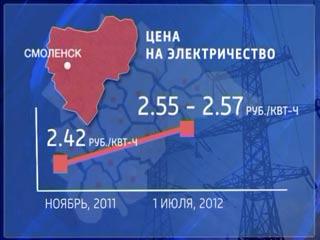 В Смоленске цены на электричество одни из самых низких в ЦФО