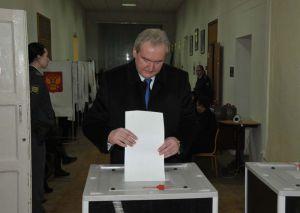 Сергей Антуфьев проголосовал на выборах в Государственную Думу