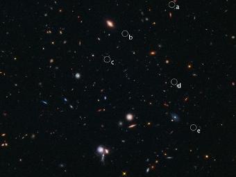 «Хаббл» нашел самое удаленное из известных протоскоплений