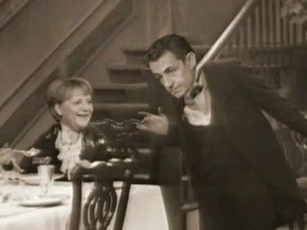 Скетч 1963 года с Саркози и Меркель стал хитом YouTube
