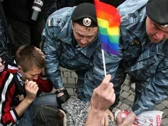 На Красной площади задержаны участники несанкционированного гей-пикета