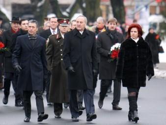 В центре Риги столкнулись машины президента и спикера сейма