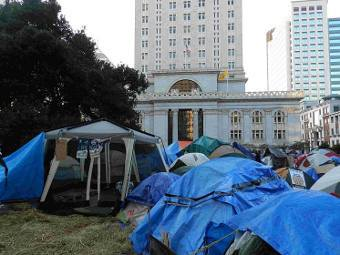 Полиция ликвидировала лагерь движения «Захвати Окленд»
