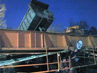 На строительстве трассы в Химках обрушился переход