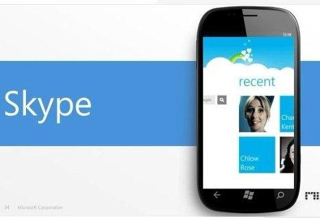 Skype для Windows Phone 7 появится еще в версии Mango
