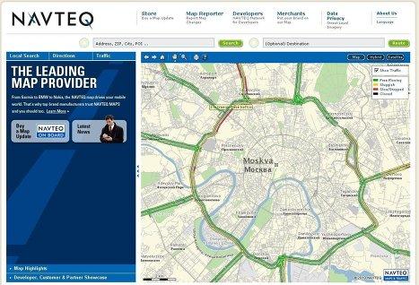 Сервис «Яндекс.Карты» будет использовать цифровые карты Navteq