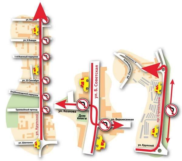 Смоленск остался без девяти левых поворотов