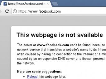 Facebook оказался недоступен для части пользователей