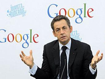 Саркози снова предложил ввести «налог на Google»