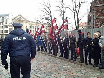 В Риге началось шествие легионеров SS