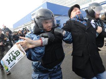 На митинге в Останкино задержаны более 30 человек