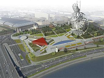 В интернет выложили проекты развития пустыря под гостиницей «Россия»