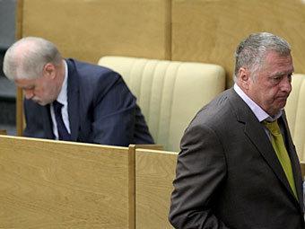 Миронов и Жириновский признали поражение на президентских выборах