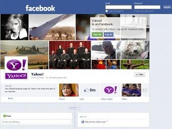 Facebook оспорила легитимность главной страницы Yahoo!
