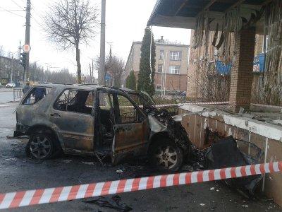 В Смоленске в машине заживо сгорел пассажир