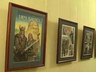 Смоленский художник представил выставку, посвященную военной истории России
