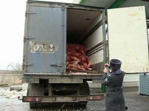В Смоленской области задержана крупная партия мяса без документов