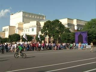 Лондонскую Олимпиаду смоляне смотрят на большом экране