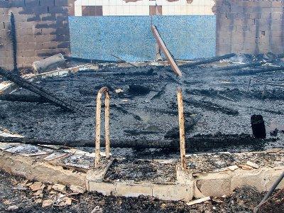 В Вязьме сгорел торгово-развлекательный центр