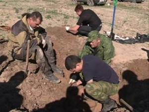 На улице Кутузова снова нашли останки солдат Великой Отечественной войны