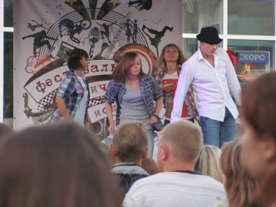 В облцентре возродили старинную традицию веселить народ на улицах
