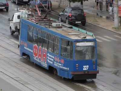 В облцентре загорелся трамвай с пассажирами