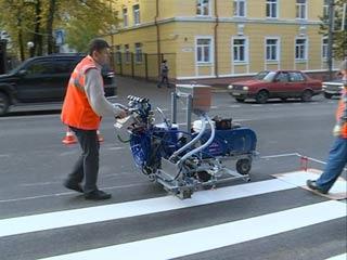 Жители Смоленска своими силами позаботились о дорожной разметке
