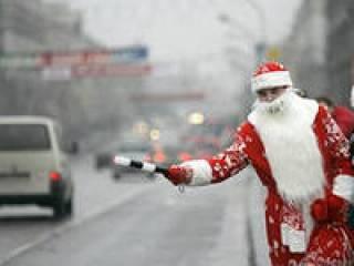 Юные смоляне поведали Деду Морозу о правилах дорожного движения