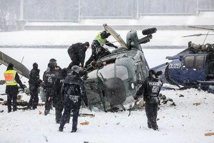 Над Берлином столкнулись два полицейских вертолета