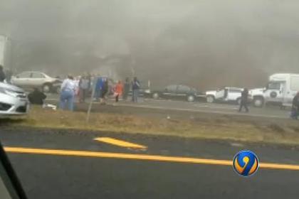 На шоссе в Вирджинии столкнулись 75 автомобилей