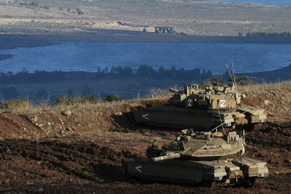 Израильские танки уничтожили цели в Сирии