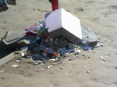 Развлекаясь ночью, студенты высыпали мусор из урн и громили скворечники
