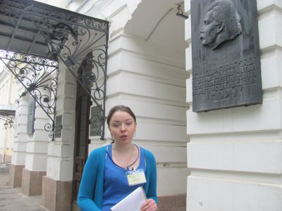 Девушки из РГУТиС провели бесплатные экскурсии по литературному Смоленску