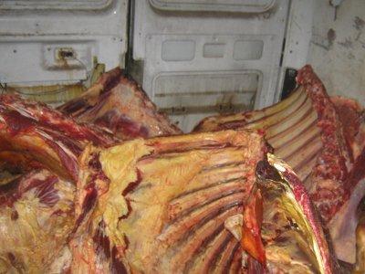 На границе завернули белоруса с полутонной сомнительного мяса
