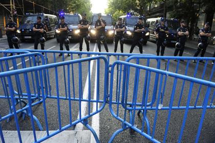В Мадриде полиция разогнала антиправительственную демонстрацию
