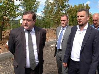 Губернатор проверил ход ремонта дорог на въезде в Смоленск