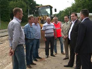 Алексей Островский лично оценил ход реконструкции смоленских улиц