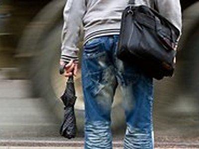 В зонте у пешехода-нарушителя гаишники нашли героин