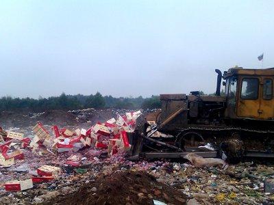 На Кучинском полигоне закопали четыре с половиной тонны испанских нектаринов