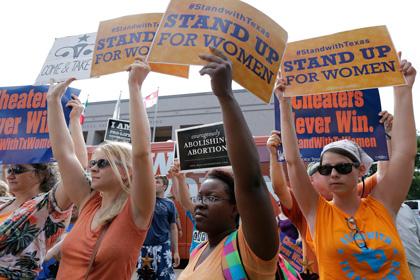 В Техасе частично заблокировали закон об ограничении абортов