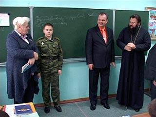Епископ Исидор впервые посетил Смоленский фельдмаршала Кутузова кадетский корпус
