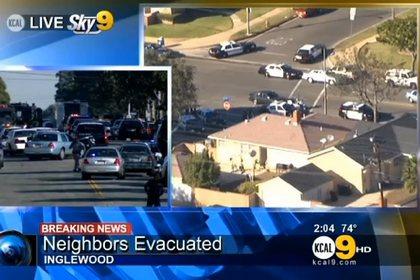 Злоумышленник захватил заложника в Калифорнии