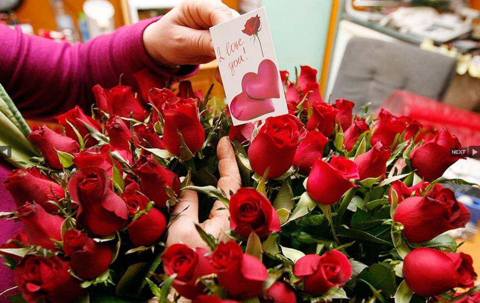 Особенности букетов ко Дню святого Валентина