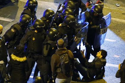 В столкновениях в Мадриде пострадали 88 человек