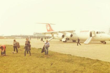 В Лондоне у самолета во время взлета взорвался двигатель