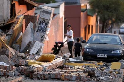 В Чили снова произошло мощное землетрясение