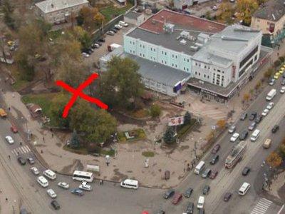 Сквер на площади Победы возле ТЦ «Юнона» собираются застроить
